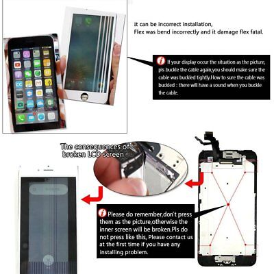 For iPhone 7 6 6s Plus 6 LCD Display Complete Screen Replacement Home Button 4