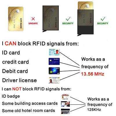 New Leather Credit Card Holder Men's Money cash Wallet Clip RFID Blocking Purse 6