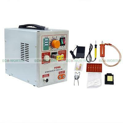 LED Pulse Spot Welder Weld 18650 Battery Welding Machine with Charger 110V 60A 7