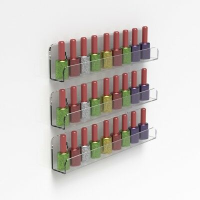Wall Mounted Acrylic Nail Polish Display Shelf Nail Varnish Bottle Stand Holder 5