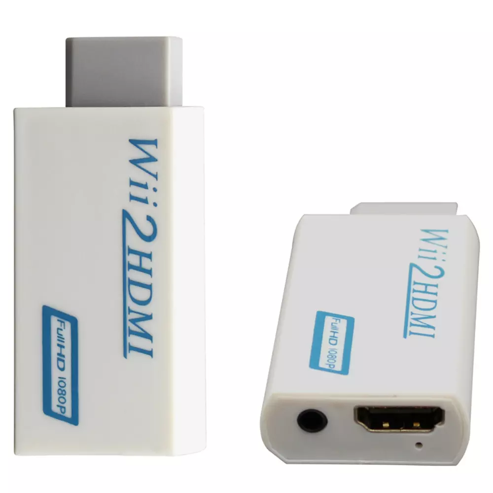 Wii To Hdmi Adapter Wii2hdmi 1080p Converter 3.5mm Audio Video Full HD Wii HDTV 5