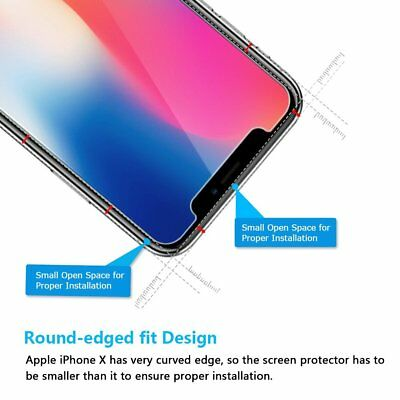 Apple iPhone X XS Max XR 8 7 6 6S Plus SE 5S 5 Tempered Glass Screen Protector 4