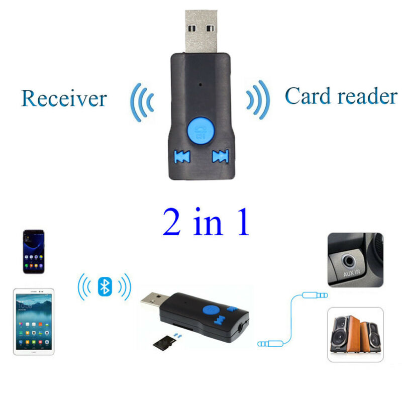 1pc USB Bluetooth Wireless Audio Music Stereo Adapter Dongle Receiver for TV PC 4