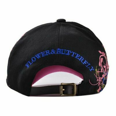 AKIZON Baseball Cap For Women With Butterflies And Flowers Embroidery Adjustable 4