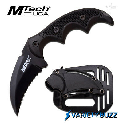 TACTICAL COMBAT KARAMBIT FIXED BLADE HAWK KNIFE Survival Hunting BOWIE w/ SHEATH 2