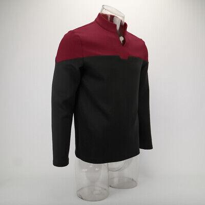 2019 Star Trek Picard Startfleet Uniform Cosplay Science Blue Top Shirt Costumes