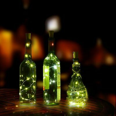 Cork Shaped 20 LED Night Light Starry Lights Wine Bottle Lamp For Wedding Party 6