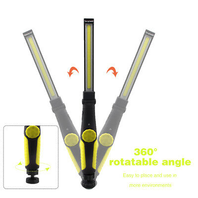 LED COB Rechargeable Magnetic Torch Flexible Inspection Lamp Cordless Work Light 3