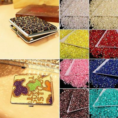 2000 Choose Colour Crystal Flat Back Nail Art Face Festival Rhinestones Gems 7