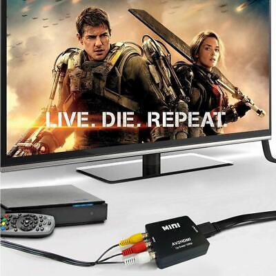 RCA to HDMI Converter Composite AV CVBS Video Adapter 720p 1080p Wii NES SNES 6