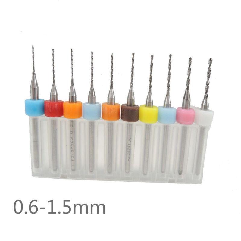Micro Drill Bit 3.175mm 10pc/Set PCB Print Circuit Board Carbide Fine Attachment