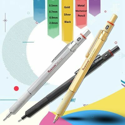2.0mm 0.9/1.0mm 0.7mm 0.5mm Drafting Metal Mechanical Pencil For Drawing 1pc 2