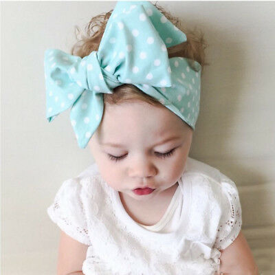 Baby Girls Floral Headwrap Top Knot Big Bow Turban Tie Headband Hair Accessories 8