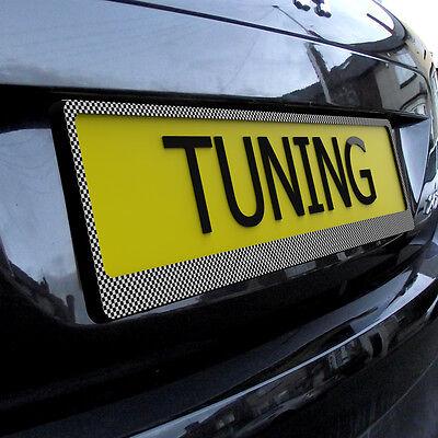 3 of 10 Carbon Fiber Car Tuning License Number Plate Holder Surround Frame Any Car & CARBON FIBER Car Tuning License Number Plate Holder Surround Frame ...