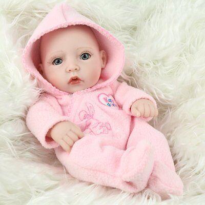 "10""Newborn Real Looking Baby Girl Soft Vinyl Realistic Life Like Reborn Dolls 4"
