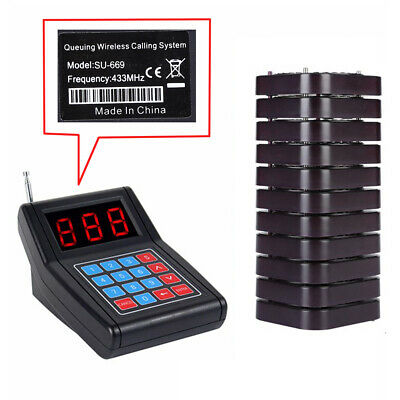 Restaurant Calling Pager Paging System Equipment 1Transmitter+20 Coaster Pagers 11