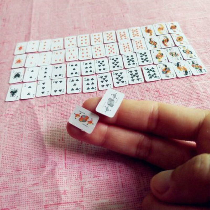 Mini Cute 1:12 Dollhouse Miniatures Poker Home Decoration Poker Playing Cards 7