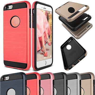 Dustproof Shockproof Slim Brushed Hybrid Rubber Hard Case For iPhone 5 5s SE 4