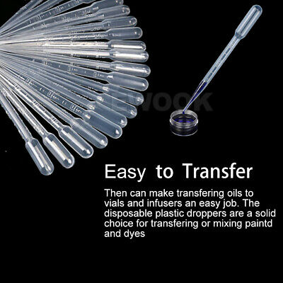 100/200/300 Durable Use 3ML Disposable Plastic Eyedroppers Pipette Eye Droppers 3