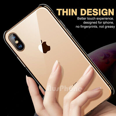 iPhone X XS Max XR 8 7 Shockproof Slim Crystal Clear  Hard Case Cover For Apple 4
