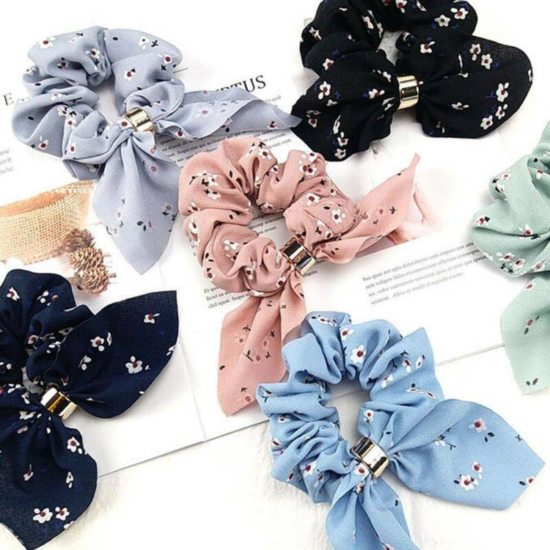 Women Simple Satin Ribbon Bow Hair Rope Ponytail Holder for Hair Accessories 2