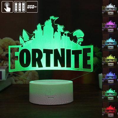 game spiel fortnite 3d led tischlampe nachtlicht leselampe 7 farbe geschenk 2 - farben fortnite