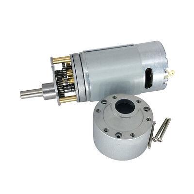 DC Reversible Electric Micro 12V Diameter 37mm Gearbox Motor 90Rpm for DIY Robot