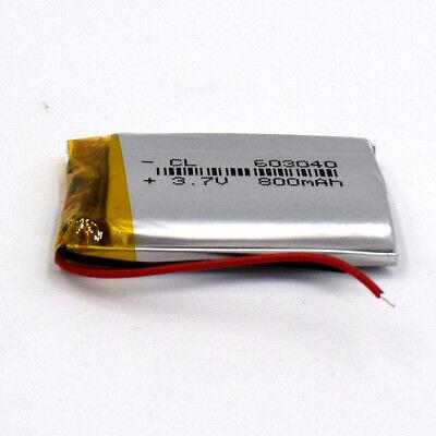 10pcs 3.7V 800mAh 603040 LiIon Li-Polymer Rechargeable Battery LiPo Cell for GPS 6