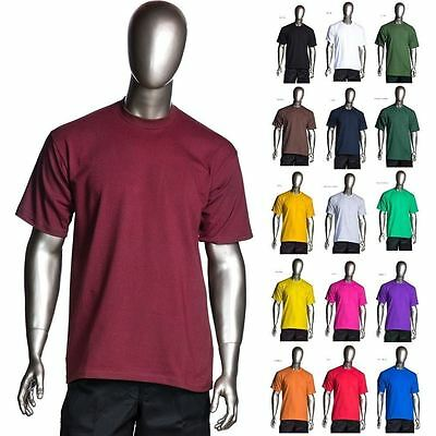 d12ff670 PRO CLUB-HEAVYWEIGHT-T-SHIRTS MENS-PLAIN-BLANK-TOP-WHOLESALE Small ...