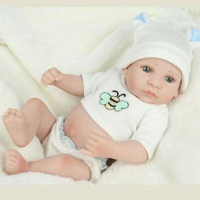 Handmade Newborn Baby Boy Doll Full Silicone Vinyl Realistic Reborn Dolls Xmas 7