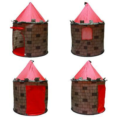 deAO Red Castle Pop up Play Tent Christmas Gift for Kids Children Playhouse 9
