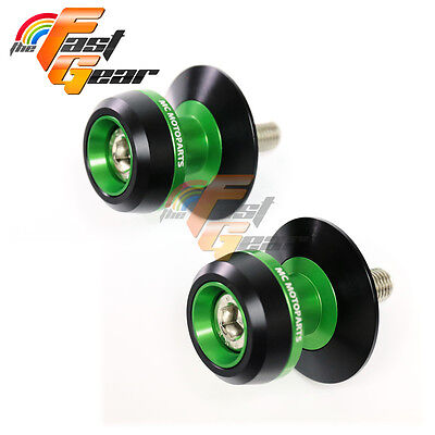 Twall Protector Green  Swingarm Spools Sliders Fit Kawasaki Z750/Z750S 2005-2015