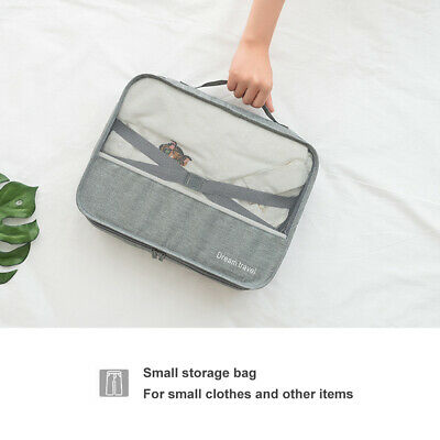 7Pcs Packing Cubes Travel Pouches Luggage Organiser Clothes Suitcase Storage Bag 7
