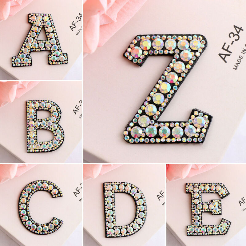 Color Alphabet Letter Patch Embroidered Sew Iron on Badge Patches Applique DIY 10