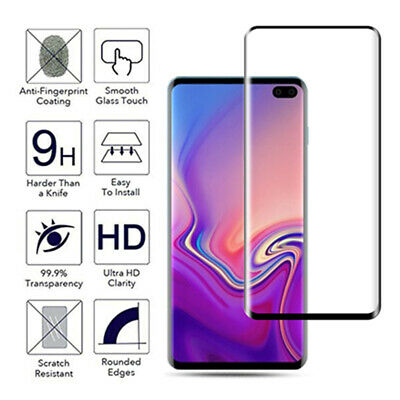 For Samsung Galaxy S10e S10+ Plus 9H Full Cover Tempered Glass Screen Protector 3
