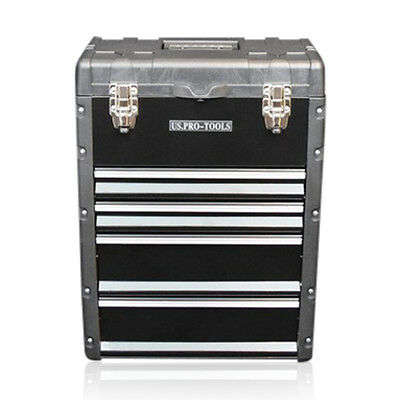 320 US PRO Tools Black Mobile Roller Chest Trolley Cart Storage cabinet Tool Box 9