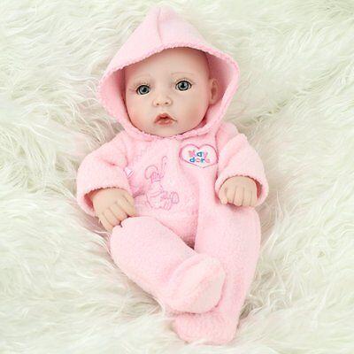 "10""Newborn Real Looking Baby Girl Soft Vinyl Realistic Life Like Reborn Dolls 5"