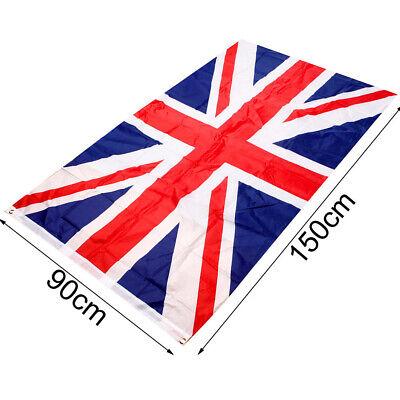5 x 3FT Large Union Jack Flag Great Britain Fabric Polyester British GB Sport UK 2