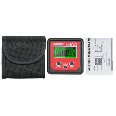 GemRed Mini LCD Level Box Angle Gauge Digital Finder Inclinometer Magnetic Base 12