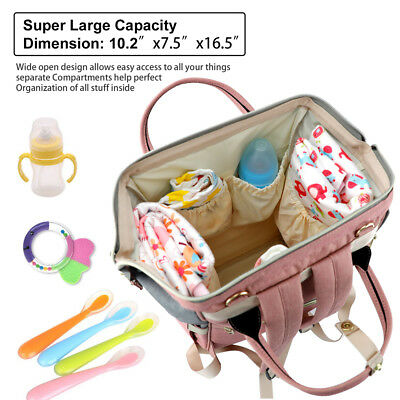 Mummy Maternity Nappy Diaper Bag Large Capacity Baby Bag Travel Backpack 7