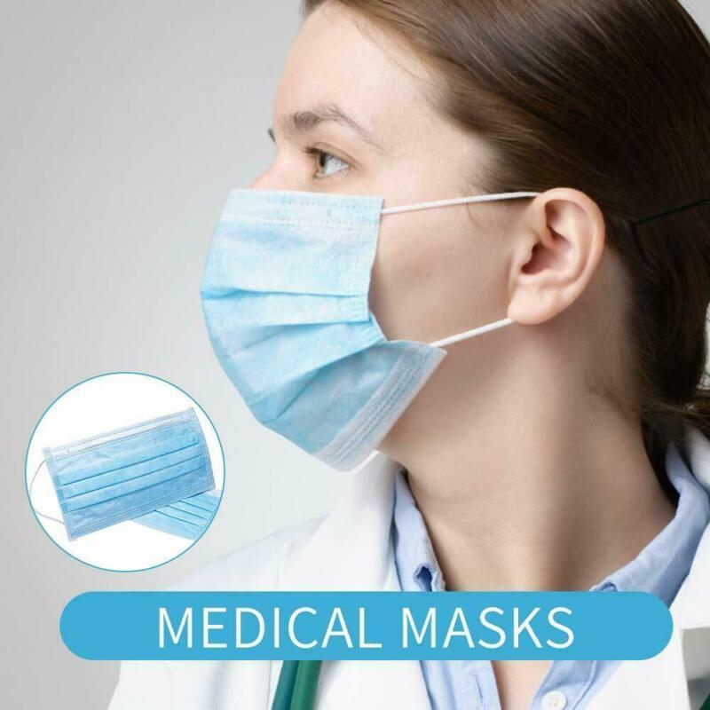50x Mascheraaa viso medica monouso 3 strati con polvere dentale chirurgica utile 2