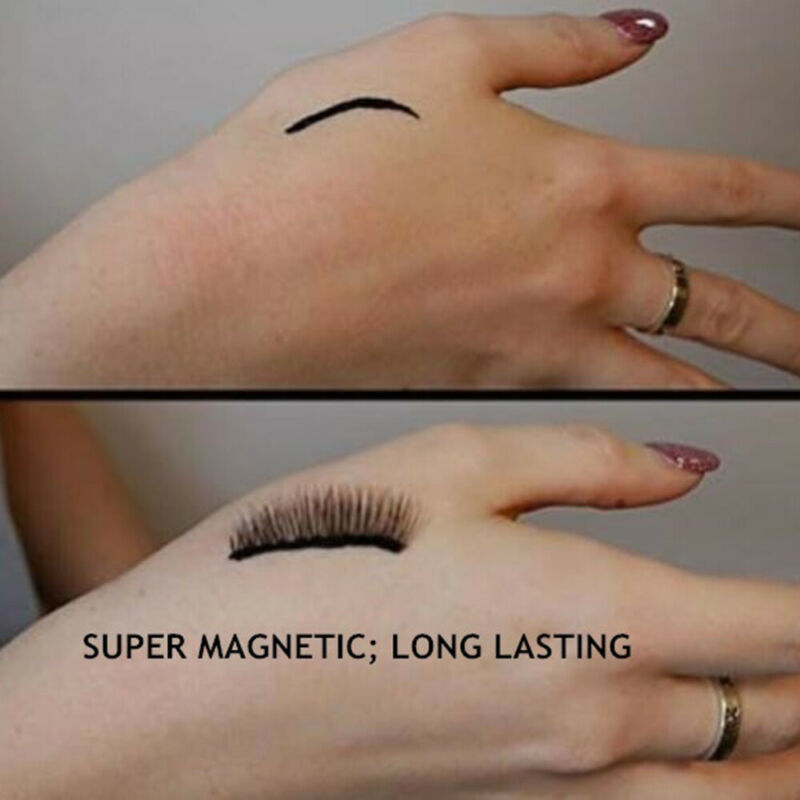 SKONHED 3 Pairs Magnetic Eyelashes With 1Pc Magnetic Eyeliner and Tweezer Set A+ 5