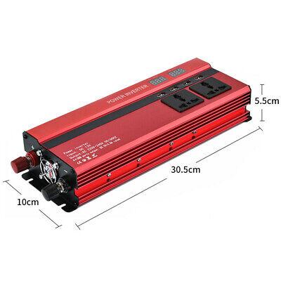 1500/6000W Caravan Power Inverter DC 12V to AC 220V Converter 4 USB 3 Socket UK 2