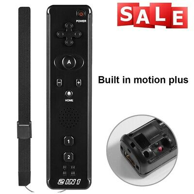 1x / 2x 2 in 1 Built in Motion Plus Remote Controller For Nintendo Wii & Wii U 3