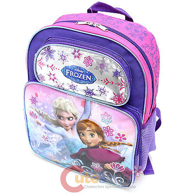"Frozen 14/"" School Backpack Anna Princess Girls School Book Bag Ice Snowflakes"