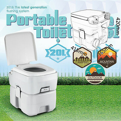 20L 5 Gallon Portable Toilet Outdoor Camping Hiking Garden Flush Potty Commode 2