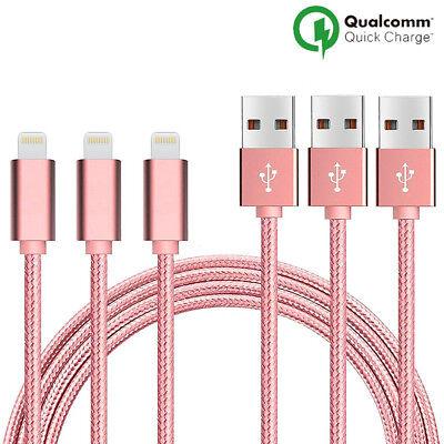 LOT3 CABLE USB CHARGEUR POUR IPHONE X 8 7 6S 6 PLUS 5 SE XR XS MAX Rapide 2Mètre 3