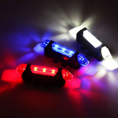5 LED USB Rechargeable Bike Tail Light Bicycle Safety Cycling Warning Rear Lamp 3
