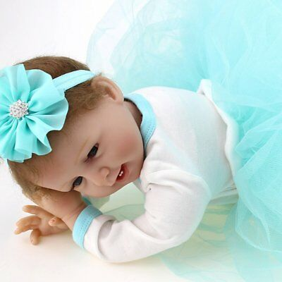 Vinyl Silicone Reborn Doll Real Life Like Looking 22inch Newborn Baby Dolls Gift 6