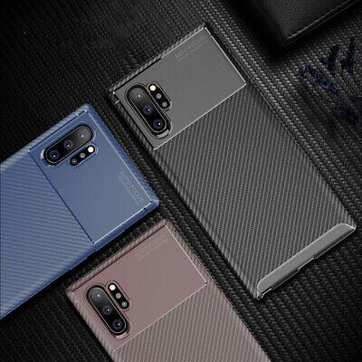 For Samsung Galaxy Note 10 10 Plus Carbon Fiber Rubber Case Slim Matte Cover 2